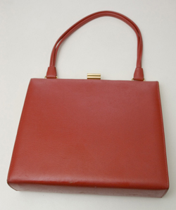 1960's Red Leather Handbag by Spearo