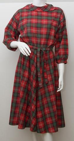 1980's Red Tartan Dress Size Medium