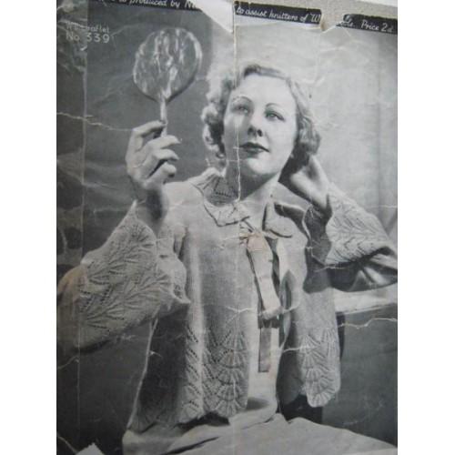 Vintage Ladies Bed Jacket Patterns To Knit Or Sew