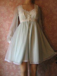 Vintage Nightgown Olga Blue Cozy top Secret Hug full sweep Long Sleeve M L  · Vintage Olga Sleeping Pretty Nightgown Peignoir Set Sheer Chiffon XS 50da82c8e