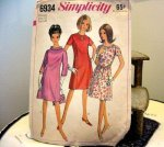 1960s Vintage Sewing Pattern Large Size Dress Simplicity Mod B44 @BettesBargains