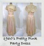 1960s Vintage Pink Southern Belle Débutante Dress @NobleSavage Vintage