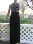 Scott McClintock Soutach prom Dress Evening Gown S @VintageOutlet