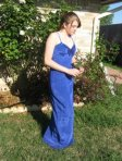 Vintage Dress Prom Gown Blue Moire NWT small @Vintagepretties