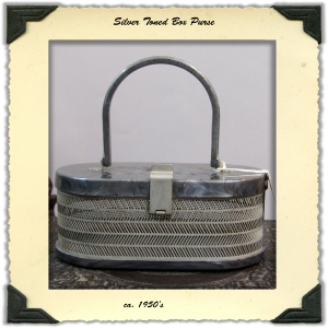 1950's Grey Box Purse
