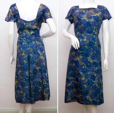 Blue Roses Dress c.1950s