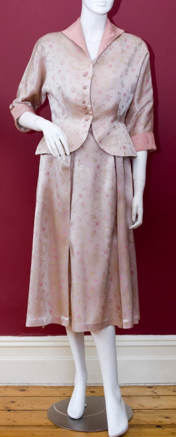 KIVA CREATIONS Pink Brocade Suit c.early 1950s