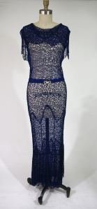 1930's Lace Bias Cut Dress
